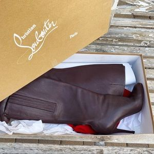 Christian Louboutin Bourge Tall 100 Leather Boots